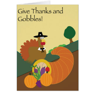 Gobble Gobble Thanksgiving Card