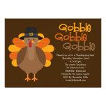 Gobble Gobble Thanksgiving Party Invitation Announcement