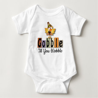 Gobble Turkey Baby Bodysuit