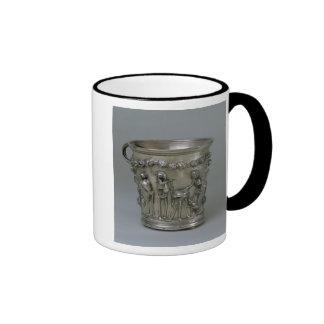Goblet embossed with skeletons coffee mug