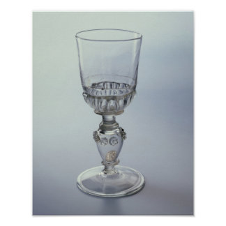 Goblet with round funnel bowl print