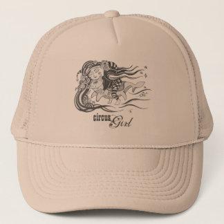 Goblin Dog Fish, Circus Girl, Rose Gold Trucker Hat