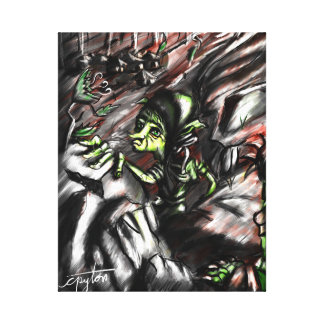 Goblin is captured canvas print