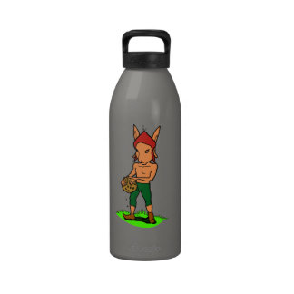 goblin with to cookie water bottle