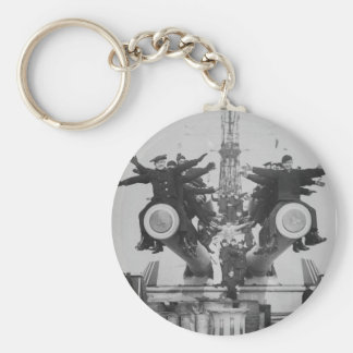 """""""Gobs"""" and Guns on the USS Texas Basic Round Button Key Ring"""