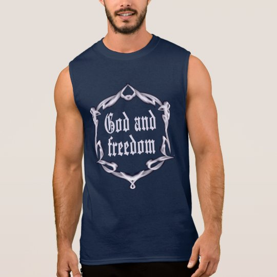 God and freedom sleeveless shirt