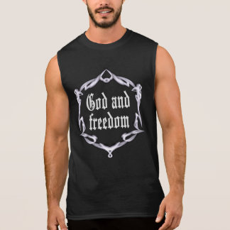 God and freedom sleeveless shirt