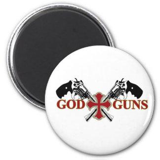 God And Guns 6 Cm Round Magnet