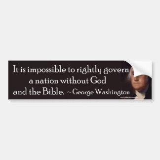 God and the Bible - Bumpersticker Bumper Sticker
