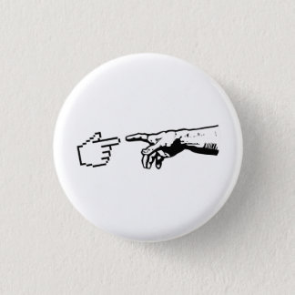 God and The Machine Hands 3 Cm Round Badge
