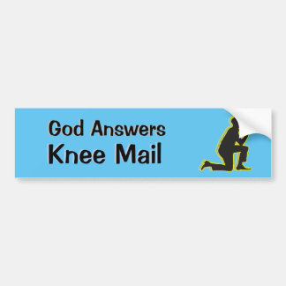 God Answers Email AA Knee Mail Alcohol Addiction Bumper Sticker