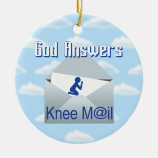 God Answers Knee Mail Gift Ornament