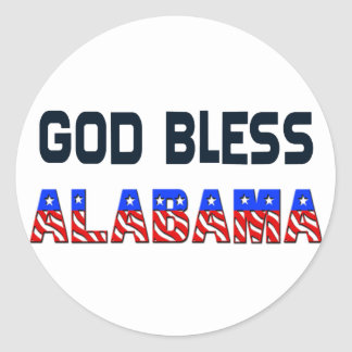 God Bless Alabama Stickers