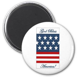 God_Bless_America 6 Cm Round Magnet