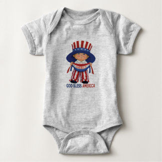 "God Bless America ""Baby Bodysuit"