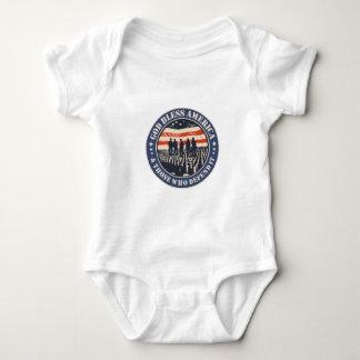 God Bless America Baby Bodysuit