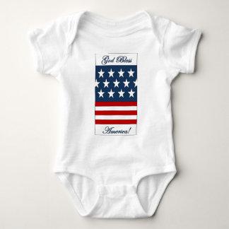 God_Bless_America Baby Bodysuit