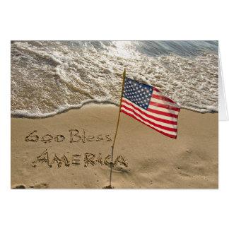 God Bless America Beach Card