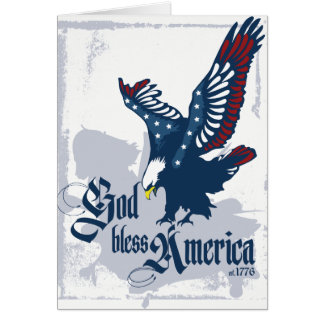 God Bless America Blank Greeting Card