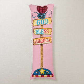 "God Bless America"" Body Pillow... Body Cushion"