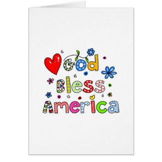 God Bless America Card