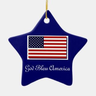 God Bless America Christmas Ornaments