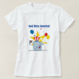 God Bless America Elephant T-Shirt