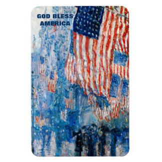God Bless America. Fine Art  Patriotic Gift Magnet Flexible Magnets