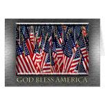 God Bless America Flags Card