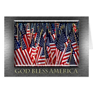 God Bless America Flags Card