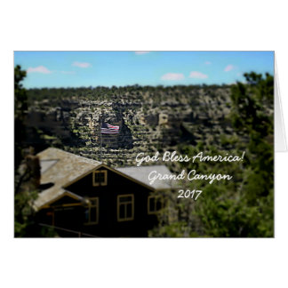God Bless America! Grand Canyon 2017 Card