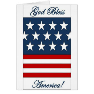 God_Bless_America Greeting Card