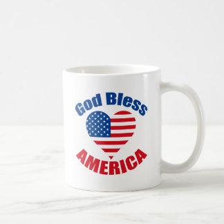 God Bless America Heart Coffee Mug