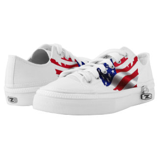 God Bless America Low Tops