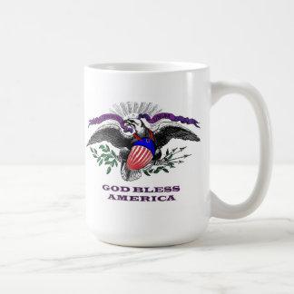 God Bless America Basic White Mug