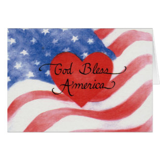 God Bless America Note Card