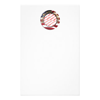 God Bless America Patriotic Photo Frame Stationery