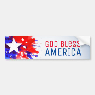 God Bless America personalized Bumper Sticker