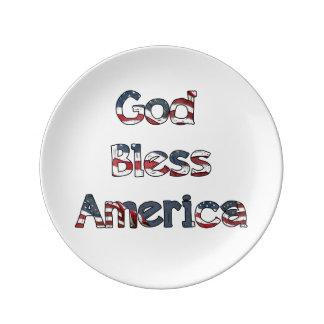 God Bless America Plate