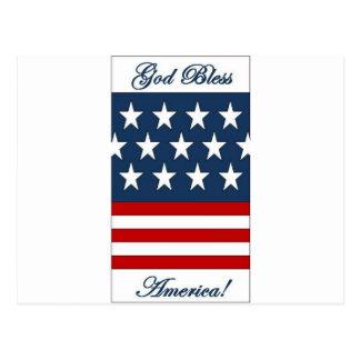 God_Bless_America Postcard