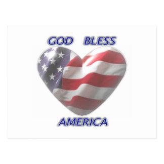 God Bless America Postcards