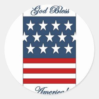 God_Bless_America Round Sticker