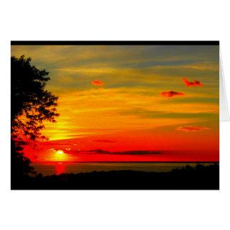 God Bless America Sunset Card