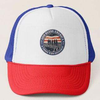 God Bless America Trucker Hat
