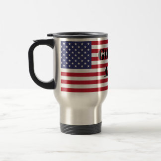 God Bless America U.S.A Flag Patriotic Travel Mug