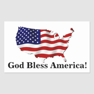 God Bless America United States Flag Sticker