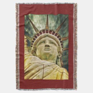 God Bless American Liberty Throw Blanket