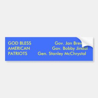 God Bless American Patriots Bumper Sticker