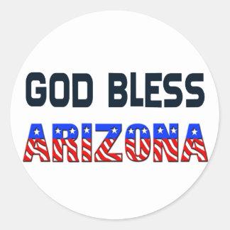 God Bless Arizona Classic Round Sticker