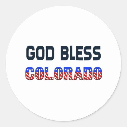 God Bless Colorado Sticker